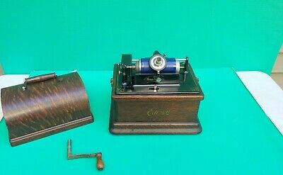 Antique Edison Fireside 2/4 Minute Play Model A Cylinder Phonograph