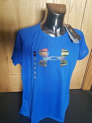 Girls Under Armour Blue T-shirt BNWT Size Large