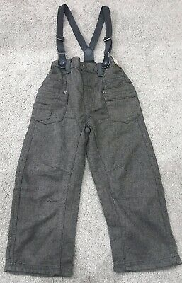 Bran New Next Trousers With Braces Jeans Bottoms Size 3-4 Years Old