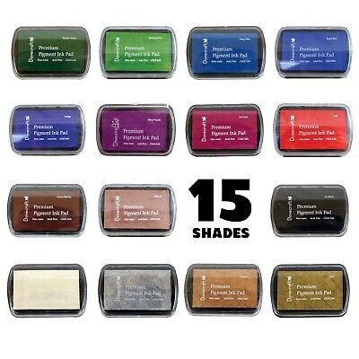 Dovecraft Premium Pigment Ink Stamp Pad CHOOSE FROM 15 COLOURS - Craft Stamping