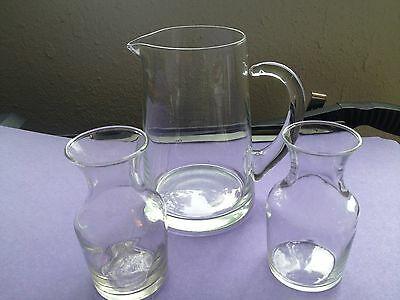 Vintage Crystal Pitcher with Two Carafe's