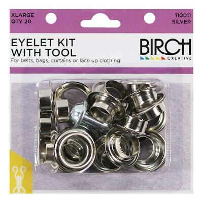 NEW Birch Eyelet Kit With Tool - 20 Pack By Spotlight