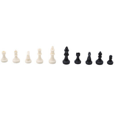 32 Plastic Chess Pieces Piece Hand Crafted Large King Replacement Set Durable