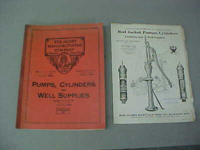 Vintage 1930 Red Jacket No. 40 Catalog (Davenport, Iowa) Great Photos Of Pumps