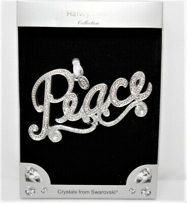 "Harvey Lewis Collection with Swaroski Crystals, ""Peace"" Luxury Ornament"