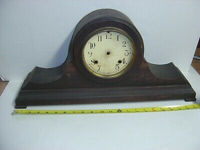 New Haven Clock Co Tambour #13 Mantle Mantel Clock Case Only Parts Need Cleaning