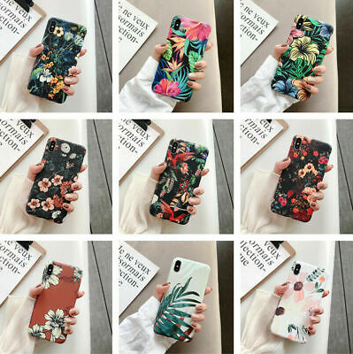 Fr iPhone11 Pro Max XS XR 8 Floral Flower Cute Girls Women Slim Phone Case Cover