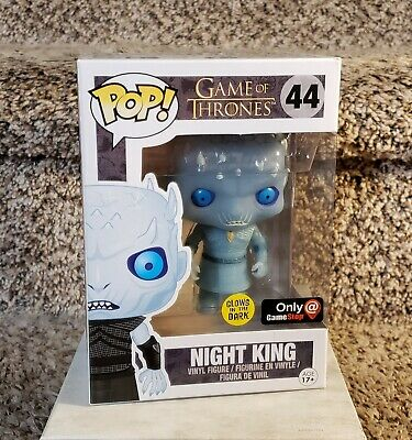 Game of Thrones FUNKO Pop! NIGHT KING #44 Game Stop Exclusive Glow w/ Case 2016
