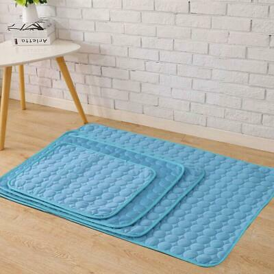 Pets Dog Cooling Mat Pet Cat Chilly Non-Toxic Summer Cool Pad Bed Cushion I N1I1