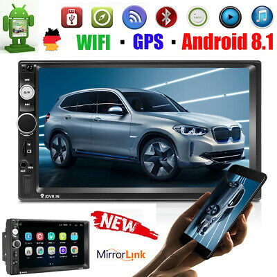 "7"" Android 8.1 AUTORADIO GPS NAVIGATION NAVI BLUETOOTH WIFI USB DOPPEL 2 DIN MP5"