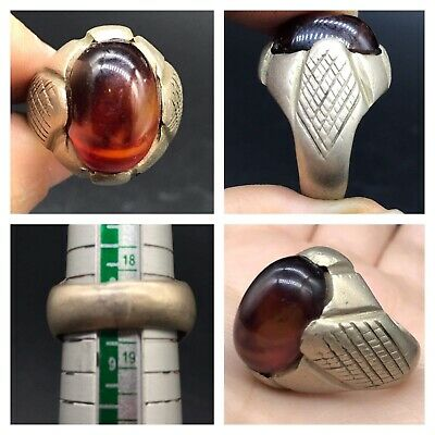 Yamni Agte Very Old Persian Antique Beautifull  Solid Sliver Ring