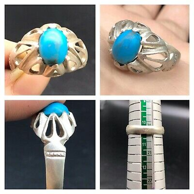 Tourquise Stonr Very Antique Old Solid Sliver Beautifull Ring
