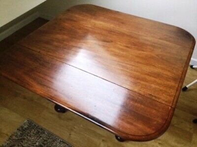 Victorian Mahogany Drop Leaf Dining Or Side Table