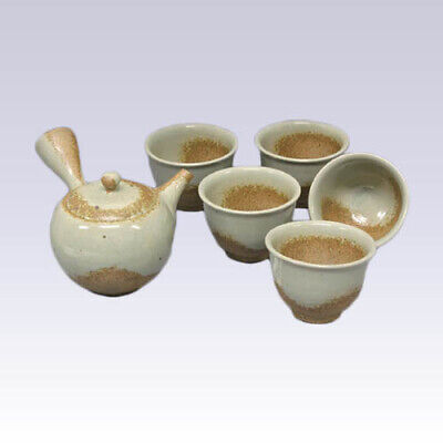 Tokoname Kyusu Teapot set - ISSIN - Gray glaze - 330cc/ml - 1pot & 5yunomi cups