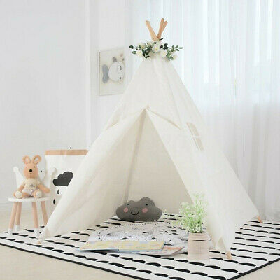 Portable Playhouse Giant Canvas Kids Play Tent indoor Teepee Toy Play House