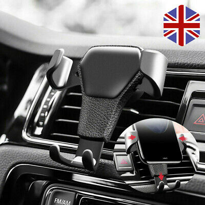 Car Air Vent Gravity Phone Mount Holder Cradle Stand for iPhone Samsung Sony UK
