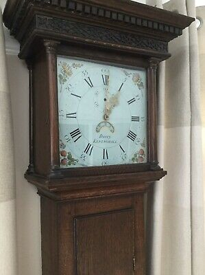 Early  Oak-Cased 30 hour Country Longcase Clock by Davey,  Keninghall.