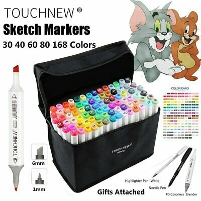 TOUCHNEW 30 40 60 80 168 Color Art Marker Pen Artist Dual Head  Markers Sketch