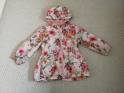 Next LIGHT WEIGHT LINED RAINCOAT MAC GIRLS AGE 4-5YEARS amazing vgc