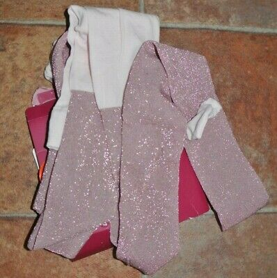 New TU Party/occasion tights Pink/silver 10-11 years