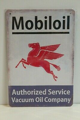 MOMS10 MOBILOIL  Metal Sign New 30 cm H X 20 cm W