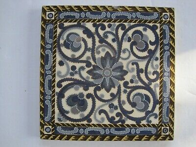 ANTIQUE VICTORIAN MINTON HOLLINS MOULDED AESTHETIC WALL TILE c1875-1910