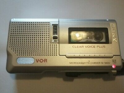 Sony V-O-R Microcassette-corder M-560v Clear Voice Plus. TESTED IN VGC