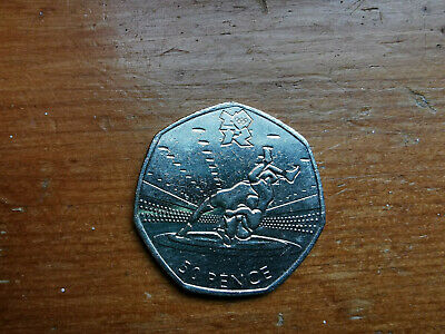 "2011 50p FIFTY PENCE LONDON OLYMPIC GAMES ""WRESTLING"" Circulated Condition."
