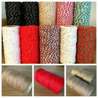 Habicraft Various Bakers Twine 2mm *Choose * Craft Gift Wrap Balloon String Jute