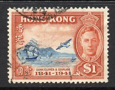 Hong Kong 1941 KGVI Centenary $1 SG 168 used