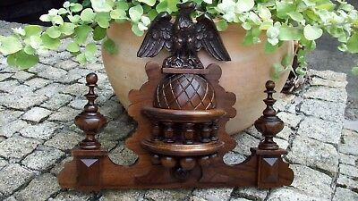 CROWN WOODEN TO THE CLOCK GERMAN VIENNA  REGULATOR BECKER 15 in