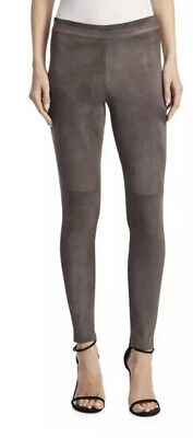 NWT Elie Tahari Roxanna Stretch Suede Skinny Leggings/pant XS In Mink Color