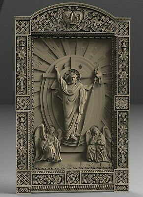 STL 3D Models # THRONE OF JESUS # for CNC Aspire Artcam 3d Printer