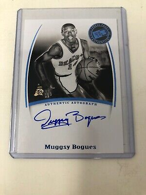 Muggsy Bogues Press Pass Autograph Card. Mint Condition!!