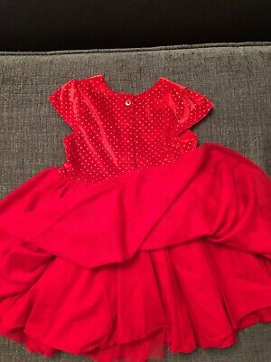 Girls Red Christmas Party Dress 12/18mths
