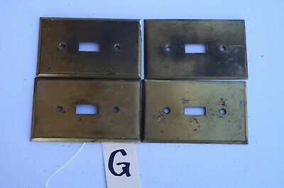 G 4 Vintage Stamped Antique Brass Toggle Wall Light Switch Plate Cover