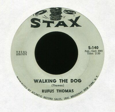 RUFUS THOMAS Walking the Dog on Stax R&B 45 Hear