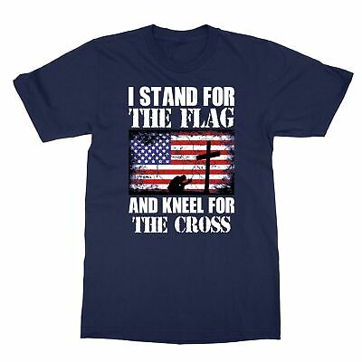 I Stand For The Flag And Kneel For The Cross Men's T-Shirt