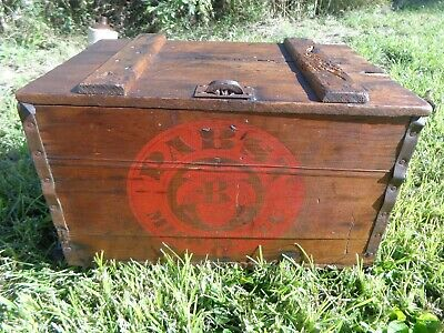 Old Antique Vintage Pabst Blue Ribbon Beer Wood Box/Crate Very Nice Collectible