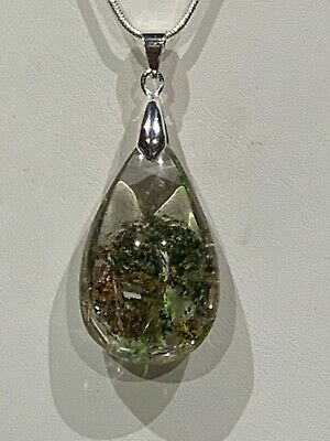 Unusual And Beautiful Phantom Quartz Necklace-Sterling Silver-New