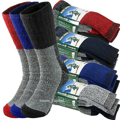 3 Pair Mens Winter Heavy Duty Super Warm Wools Thermal Socks Ski Boots Sox 10-15
