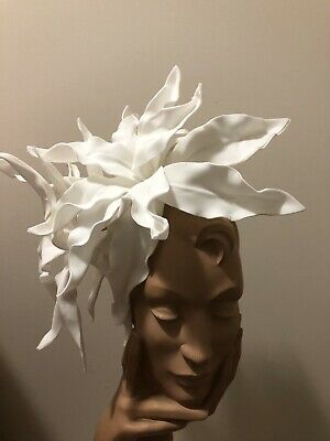Wendy White Millinery Melbourne Cup Large White Lilly