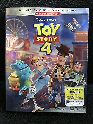 Disney PIXAR Toy Story 4 (Blu-ray + DVD + Digital, 2019) Brand New