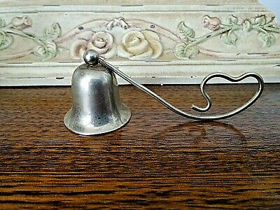 Art Deco Candle Snuffer, Sterling Silver, Petite Curled Handle Heart Shaped VGC