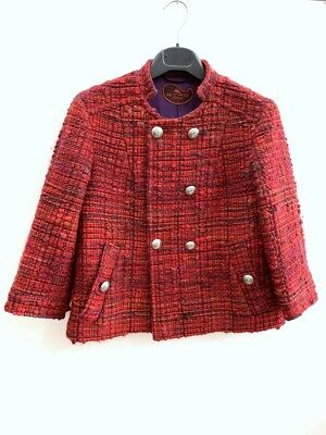 Etro Jacket in Wool and Cotton Colour Red Size 44 25424