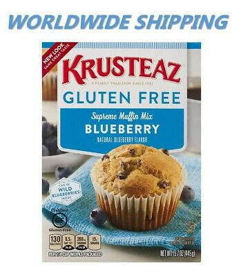 Krusteaz Gluten Free Blueberry Muffin Mix 15.7 Oz WORLDWIDE SHIPPING