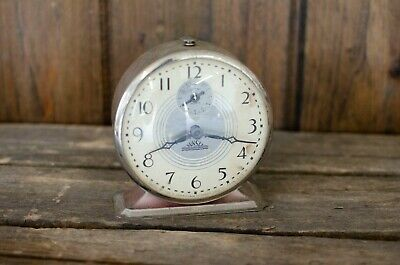 RETROVintage CHROME METAL Sunset clock