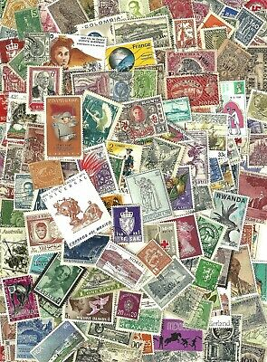 WORLDWIDE - Super Mixture of 250+ ALL OFF PAPER  Stamps Lot SEE SCAN