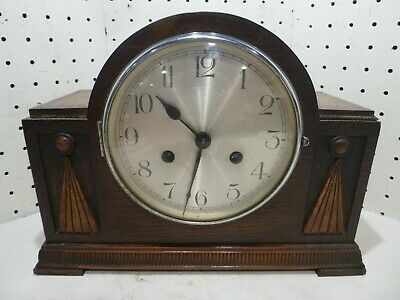 Antique R B Wood Mantle Clock CLOCK WITH WINGS SYMBOL