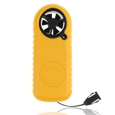 Mini LCD Anemometer Wind Speed Gauge Air Velocity Flow Hot Thermometer Mete D9I2